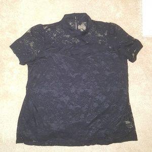 Lane Bryant lace mock neck shirt size 22/24